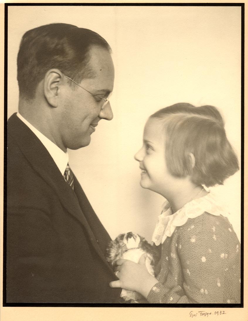 Edmund Nick mit seiner sechsjährigen Tochter Dagmar Foto: Ida Feige - Dagmar Nick privat
