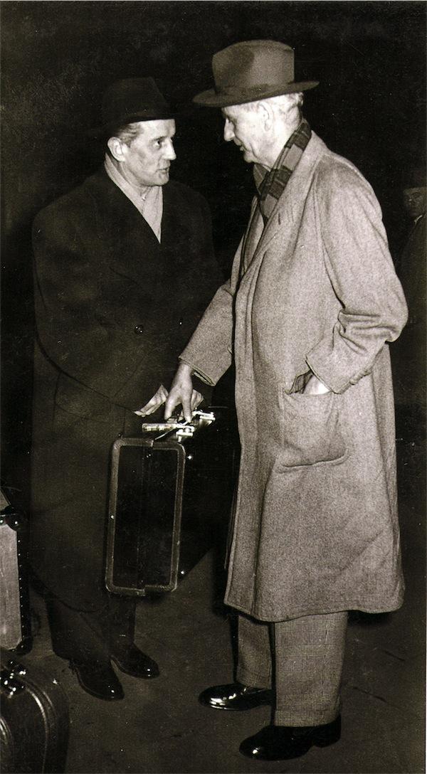 Paul Schmitz und Wilhelm Furtwängler © Foto aus dem CD-Booklet - Sammlung Erika Schmitz