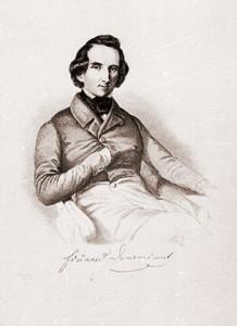 Der Sänger, Dichter, Regisseur und Theaterdirektor Eduard Devrient (1801-1877) Stich eines unbekannten Künstlers c Abbildung aus dem Booklet
