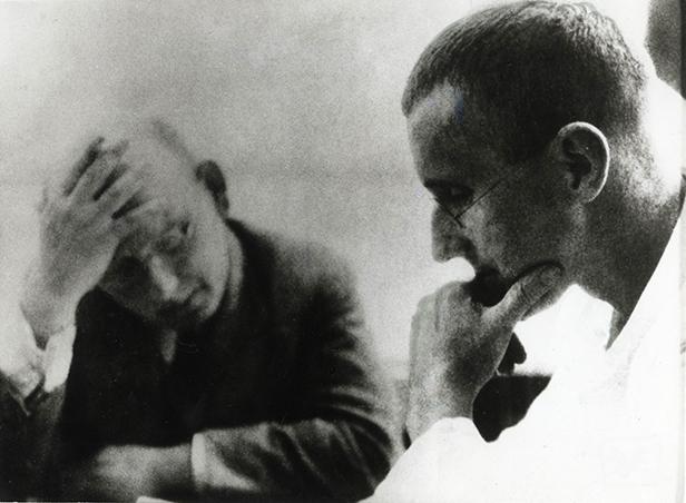 Hanns Eisler und Bertolt Brecht, 1930 c Foto: Archiv Jürgen Schebera