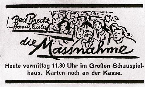 Des großen Erfolges wegen fand am 18. Januar 1931 eine zweite Berliner Aufführung als Matinee statt.  Anzeige aus der Morgenpresse