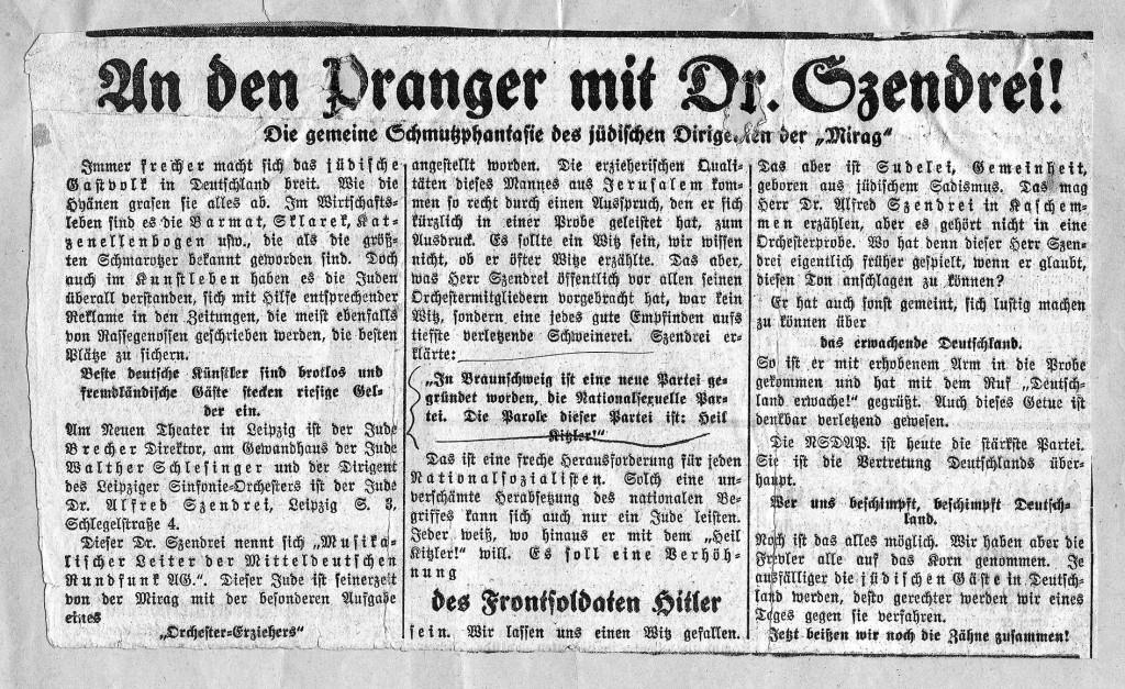 www zeitung Szendrei Pranger