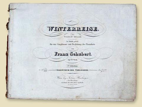 Die Erstausgabe des Liederzyklus von Tobias Haslinger in Wien, 1828