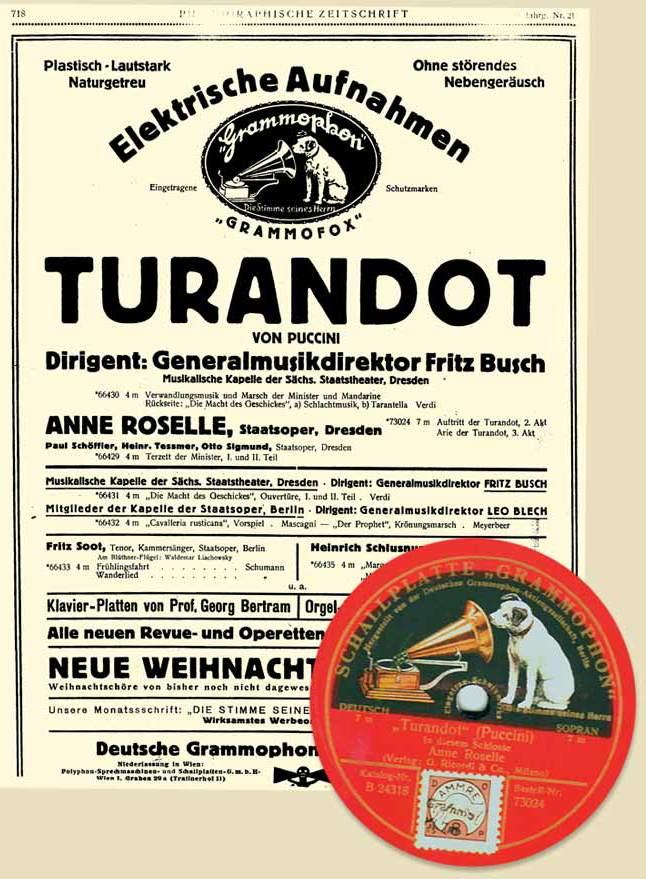 Busch_Turandot-Grammophon-Anzeige