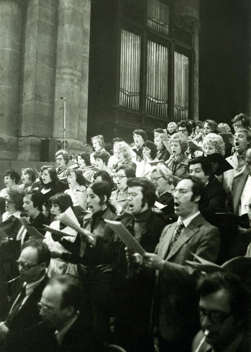 Konzert im Strasbourger Münster im Juni 1977 Foto: Huth im Archiv des Leipziger Rundfunkchores